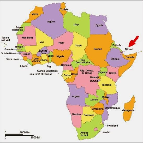 Carte montrant que Dougoum se situe à Djibouti